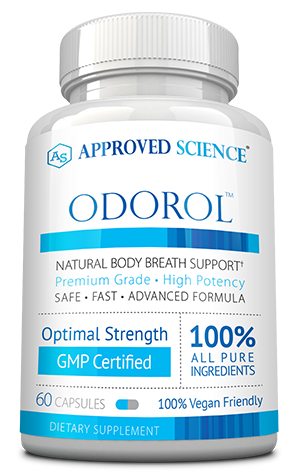 Odorol ingredients bottle