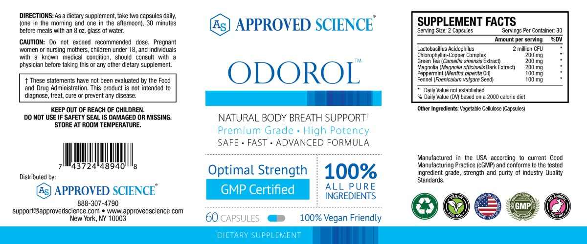 Odorol Supplement Facts